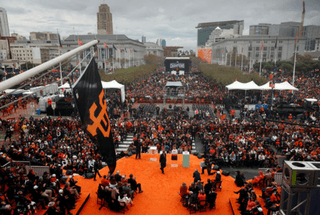 Event Staff at SF Giants World Series Parade in San Francisco.
