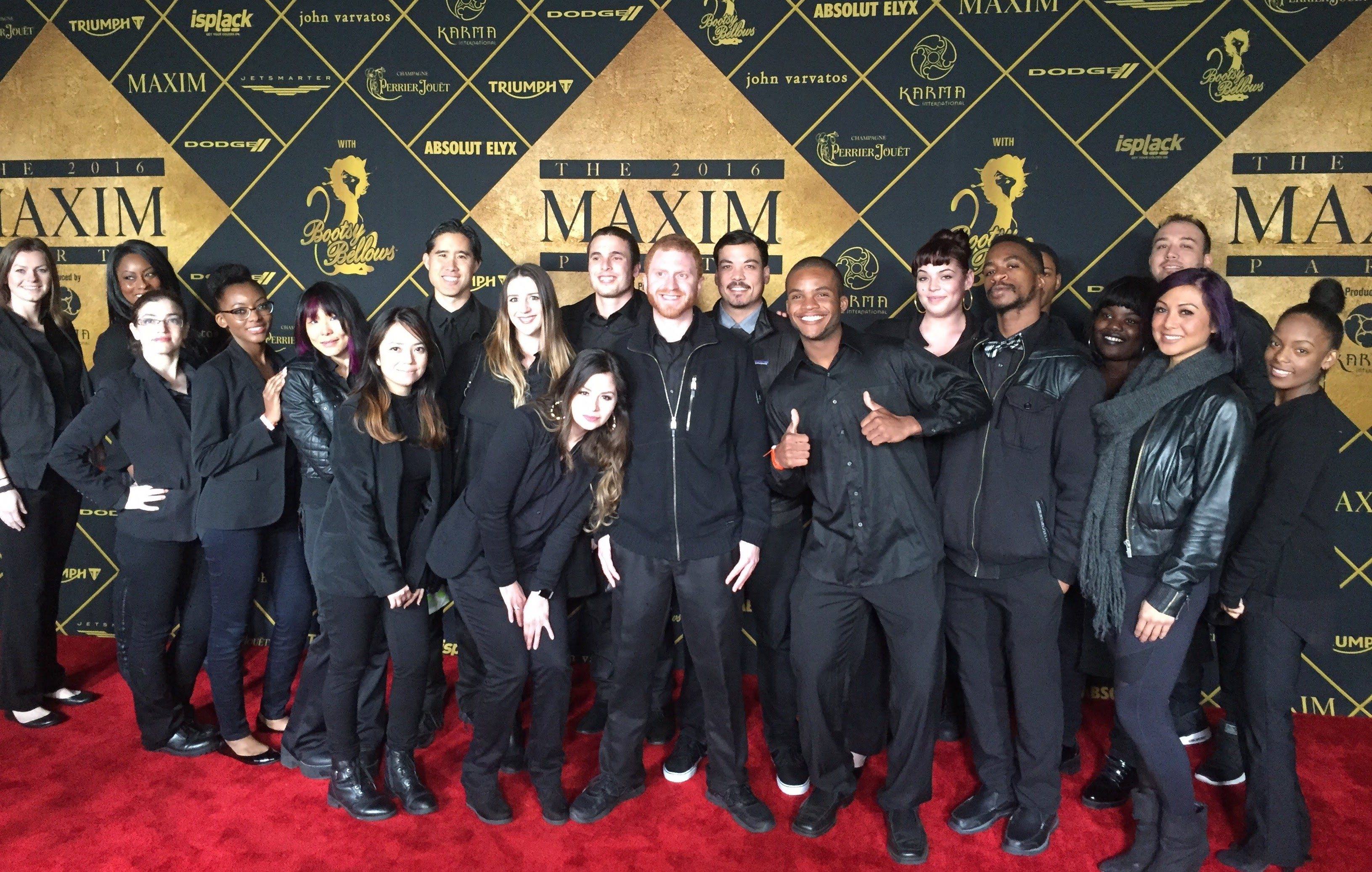 Event Staff at Maxim event for Super Bowl 50 in San Francisco.