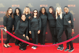 Event Staff at Netflix event in Los Angeles.