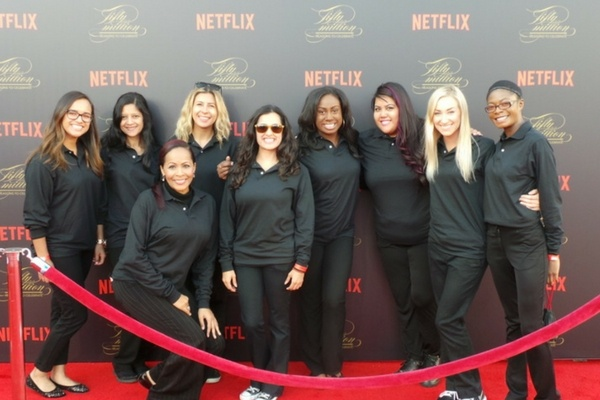 Event Staff at Netflix event in Los Angeles
